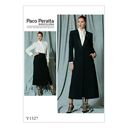Vogue Patterns 1527 AX5 de costura para chaqueta/blusa y falda patrón de costura,
