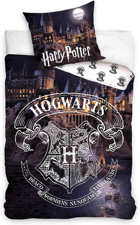 Copripiumino Harry Potter.Hogwarts Official Harry Potter Single Duvet Cover Pillowcase Bed