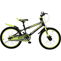 Ollmii Bikes Destrro Steel Kids Cycle 20 inches Neon Green and Black for 7 to 10 Years