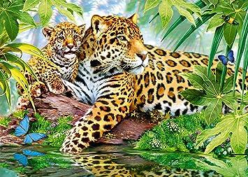 Geduldspiel Puzzle 500 Teile Spiel Deutsch 2014 Jaguar Nachwuchs