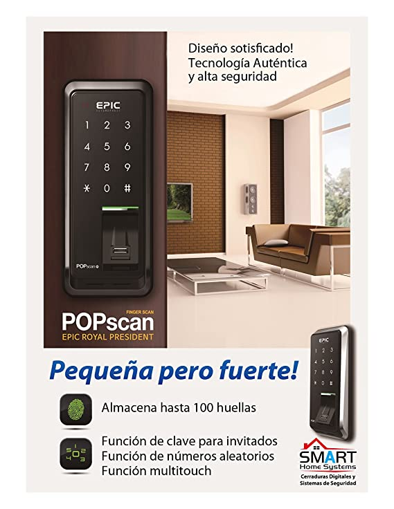 Amazon.com: EPIC Digital Door Lock Keyless FingerPrint Pop Scan-M Black: Home Improvement