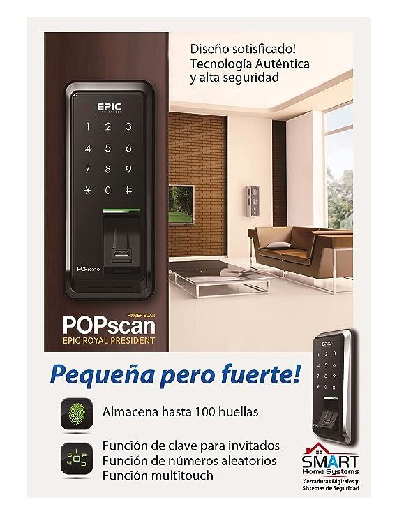 Amazon.com: EPIC Digital Door Lock Keyless FingerPrint Pop Scan-M Black: Home Improvement