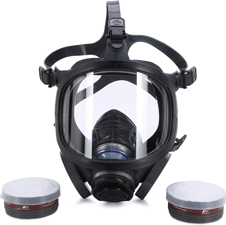 holulo full face organic vapor respirator safety mask