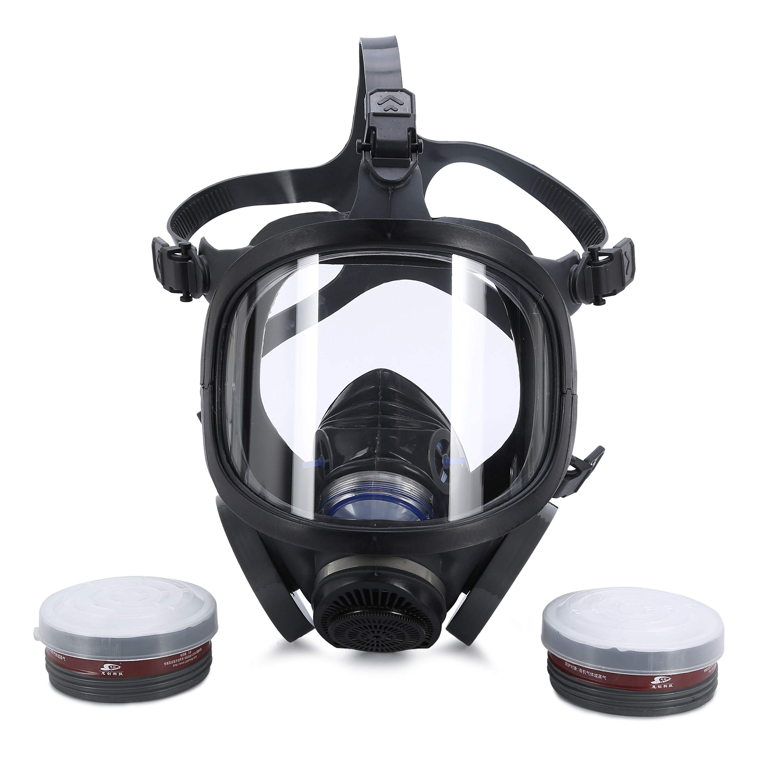 Holulo ST-M70-3 Organic Full Face Respirator Safety Mask (ST-M70-3 Mask+1 Pair 3# filter Cartridges) by Holulo (Image #2)