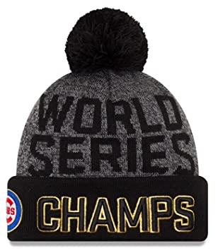 Chicago Cubs New Era 2016 World Series Champions Men s Locker Room Knit Hat b102b63aad8