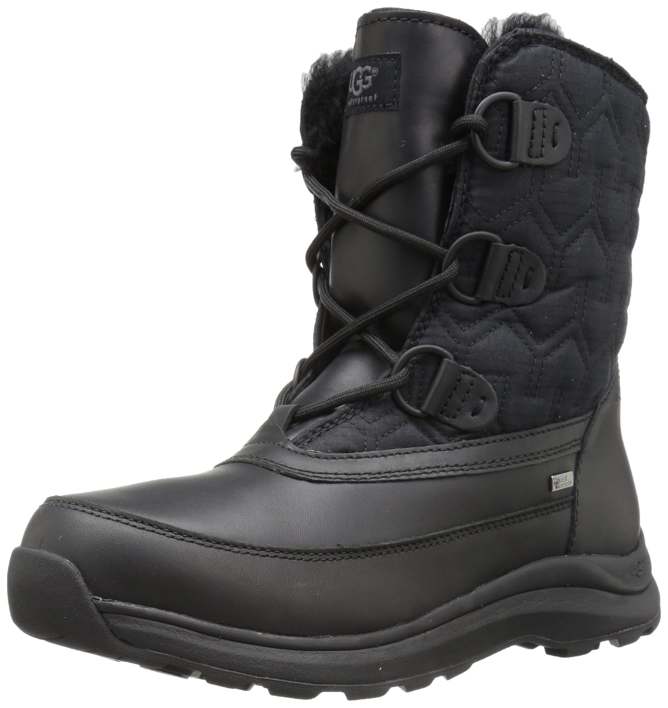 UGG Women's Lachlan Winter Boot, Black, 8 M US by UGG (Image #1)