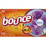 Bounce Fabric Softener Dryer Sheets with Febreze Freshness, Spring & Renewal, 105 Count