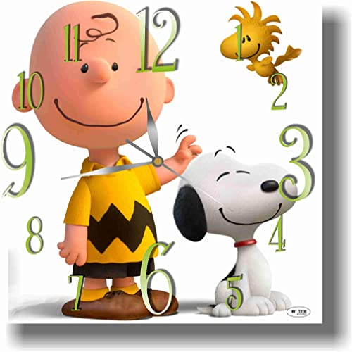 ART TIME PRODUCTION Snoopy 11 Handmade Wall Clock – Get Unique d cor for Home or Office Best Gift Ideas for Kids, Friends, Parents and Your Soul Mates