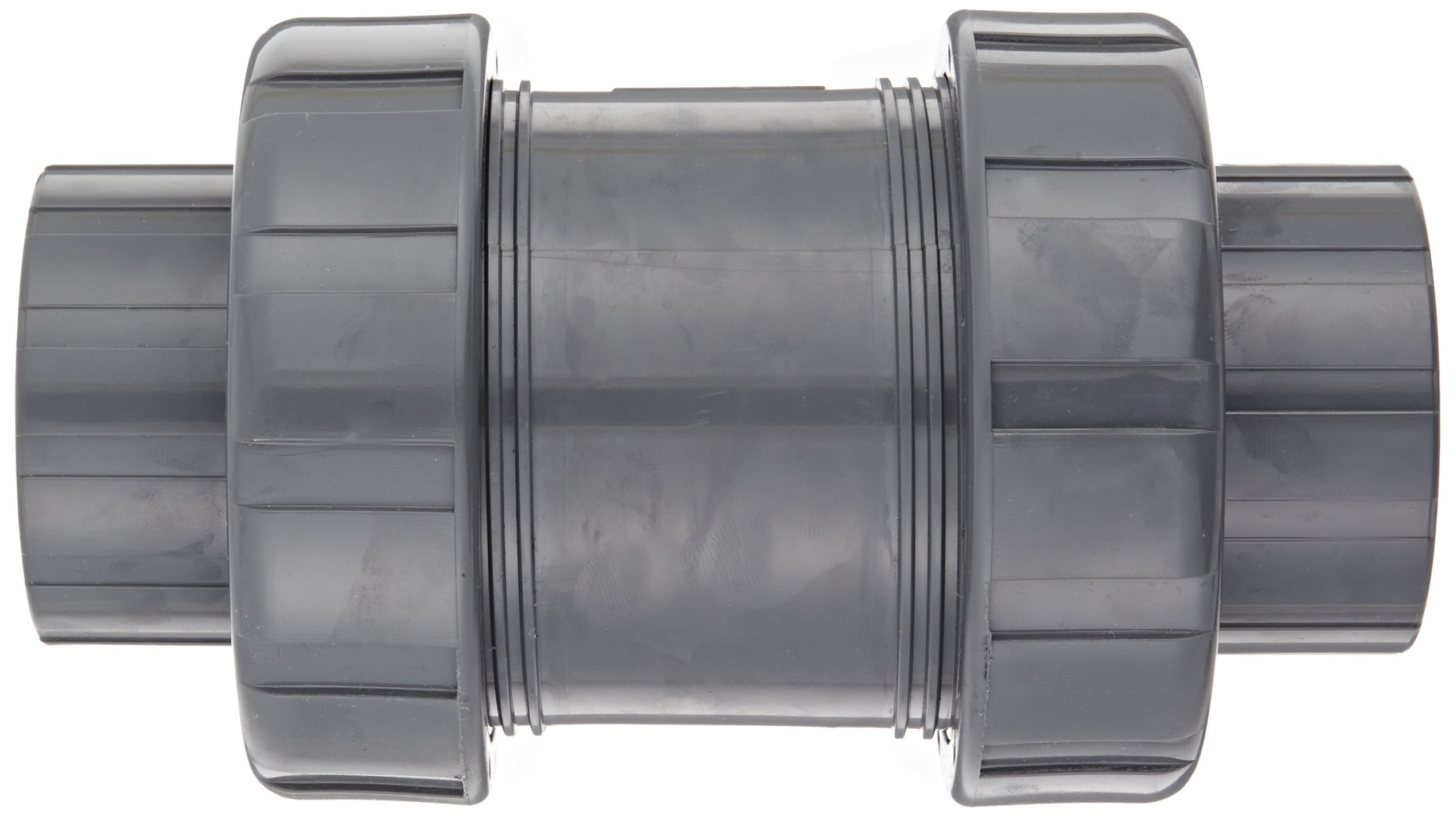 Hayward TC10200ST Series TC True Union Ball Check Valve, Socket/Threaded End, PVC with FPM Seals, 2'' Size by Hayward Flow Control (Image #2)