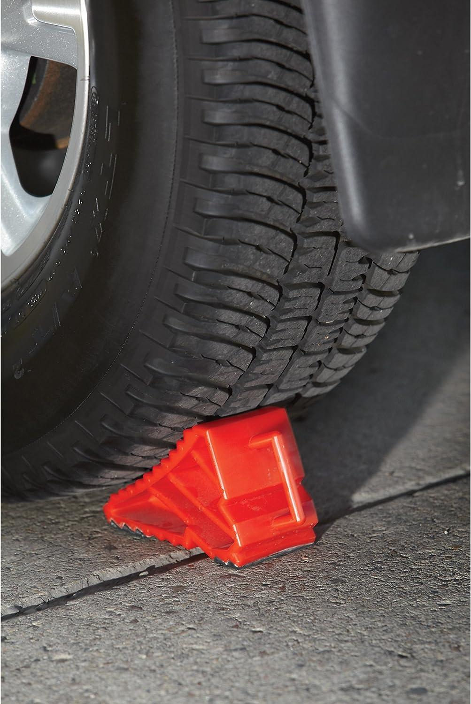 Ironton Plastic Wheel Chock 7 1//8in.L x 3 1//8in.W x 4in.H