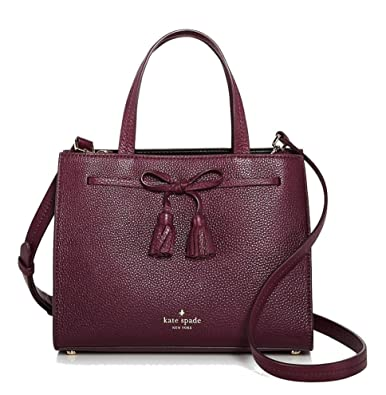 Amazon.com  kate Spade Hayes Street Isobel Small Leather Satchel ... 44966d14c9a88