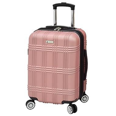 London Fog Kingsbury 21  Spinner Carry-on Luggage, Rose Gold