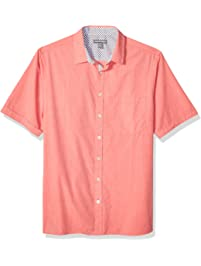 73f87faf5 Geoffrey Beene Men's Big and Tall Easy Care Short Sleeve Button Down Shirt
