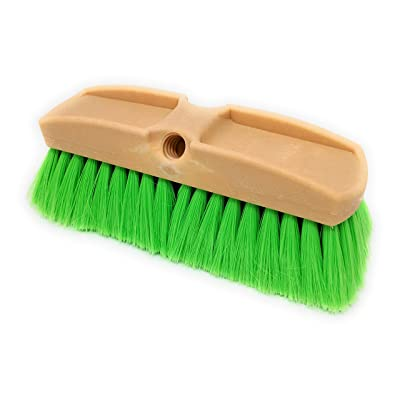 Teravan Green Obround Very Soft Flow Through Brush for Washing Vehicles and Boats (10 Inch): Automotive