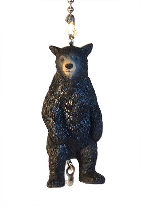 Wildlife Ceiling Fan Pull Bears Elk Moose Black Bear Standing