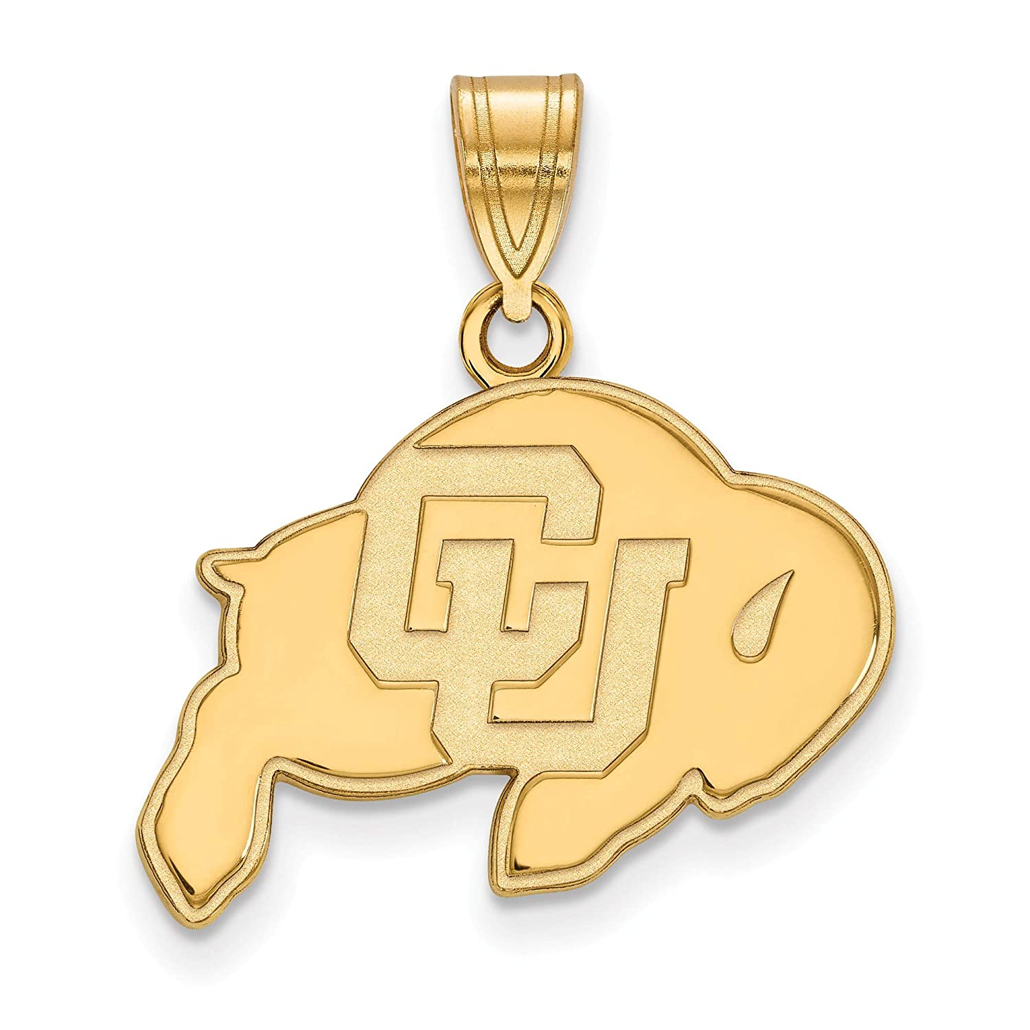 Kira Riley Gold Plated University of Colorado Medium Pendant for Chains and Necklaces