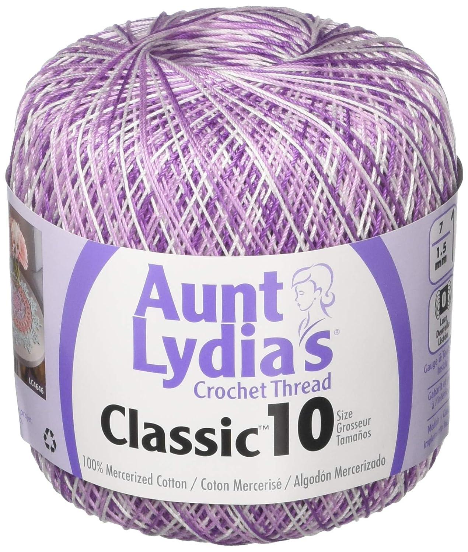 Aunt Lydia's Crochet Thread - Variegated - Size 10 - (2-Pack) Monet Multi PantryPlus