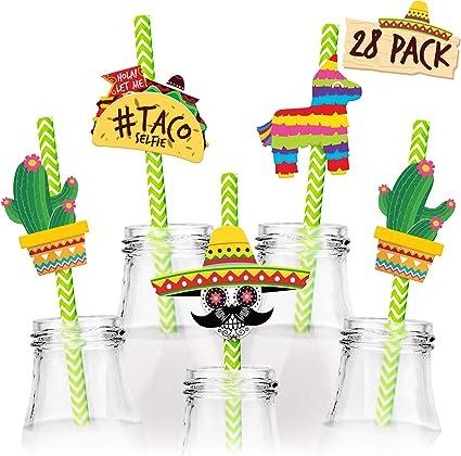 Mexican party Taco bout a party Fiesta party Fiesta straws taco bout a party straws Fiesta decor Fiesta party straws Cinco de mayo