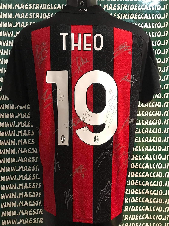 """MAESTRI DEL CALCIO Maglia Gara Away """"Theo 19"""" Autografata A.C ..."""