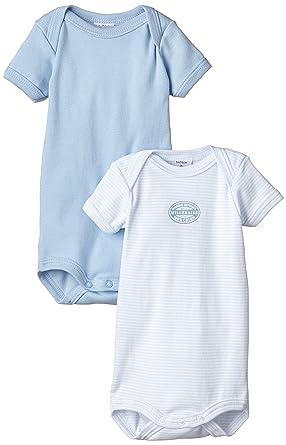 Petit Bateau - Body - Col rond - Manches courtes - Lot de 2 - Bébé Garçon   Amazon.fr  Vêtements et accessoires 3d0e53b288c