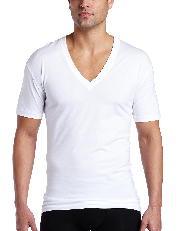 b377bfc70 C-IN2 Men's Core V-Neck T-Shirt,White, Medium: Amazon.ca: Clothing &  Accessories