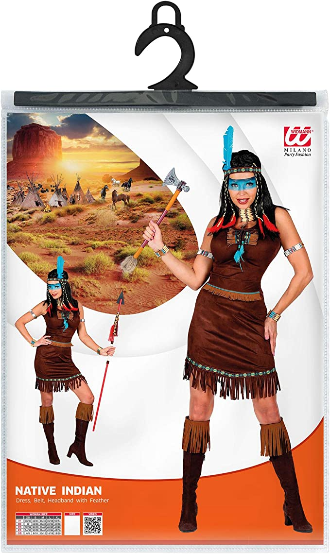 211 S Multicolore Widmann- Indiani Costume Adulto