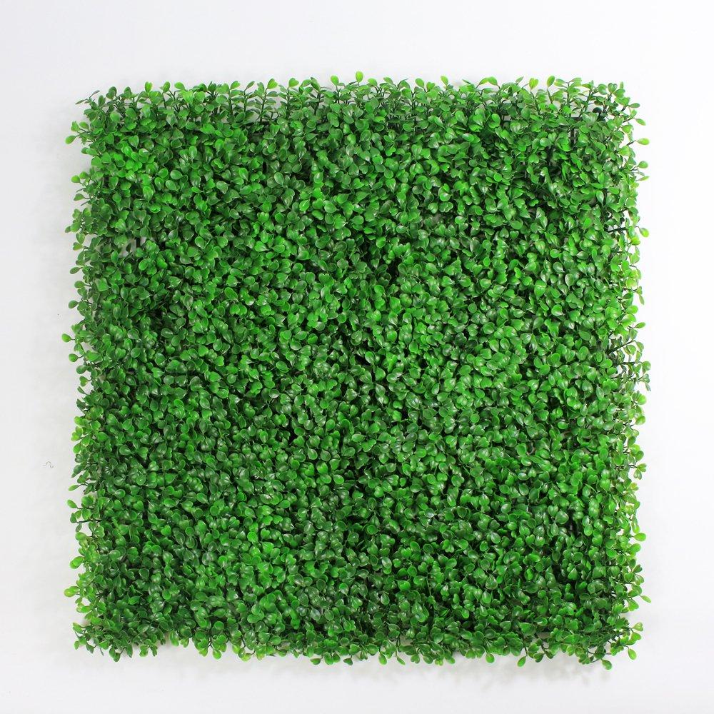 フェイクグリーンマット 人工植物葉フェンス プラスチックパネル 壁掛 ベランダ 家の庭の装飾 50x50cm/枚 (12枚, ライトグリーン) B072K4H7GM 12枚|ライトグリーン ライトグリーン 12枚