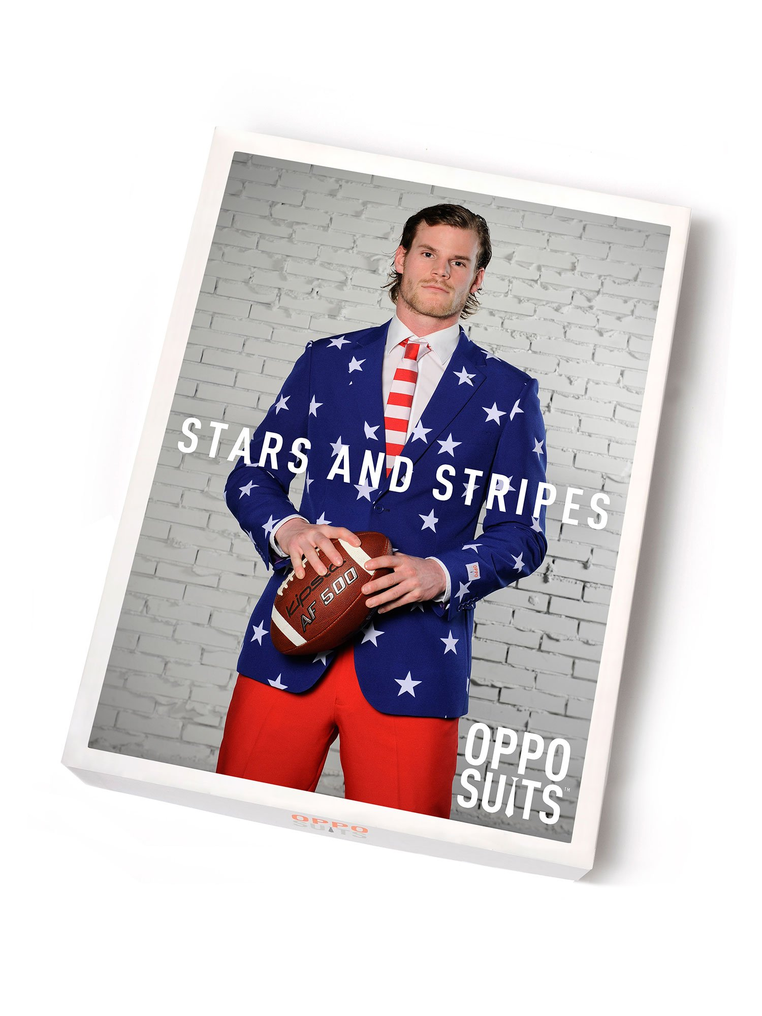 Opposuits Fancy Colored Suit For Men Now With Free Prom King and Prom Queen Sash,Stars and Stripes,US40 by Opposuits (Image #6)