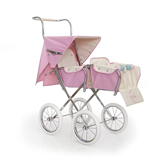 Amazon.es: Bblux - Sillita gemelar para muñecas modelo Big Rosa Colección París 78 cm - Réplica auténtica de silla inglesa fabricada a mano: Juguetes y ...