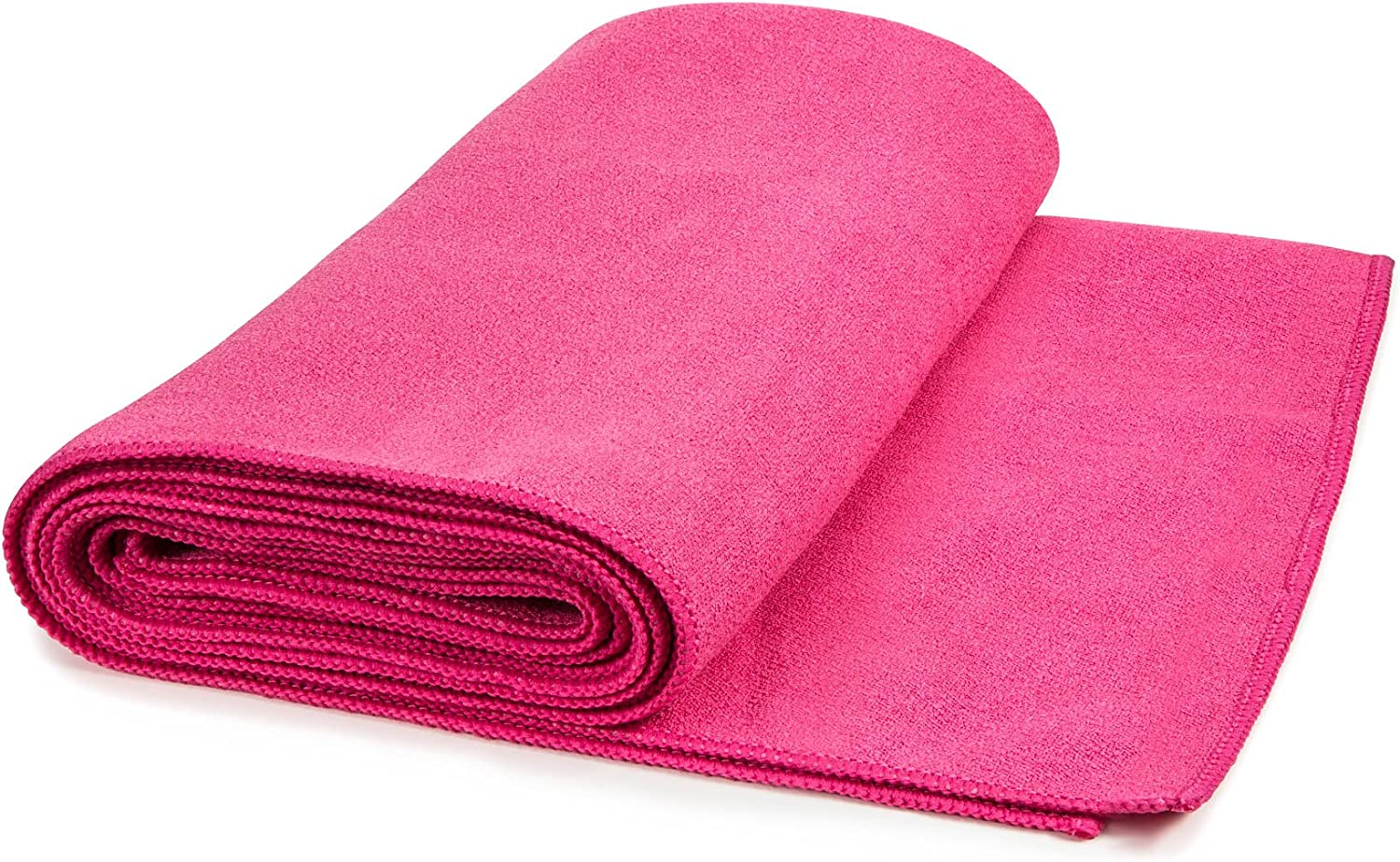 Hot Yoga Mat Towel Non-Slip, Extra-Absorbent Microfiber Anti-Bacterial Skidless Bikram Towels Cover for Exercise Workout, Fitness and Pilates or Beach ...