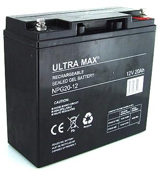 UltraMax npg20 – 12, de batería de Gel 12 V 20 AH horas (como