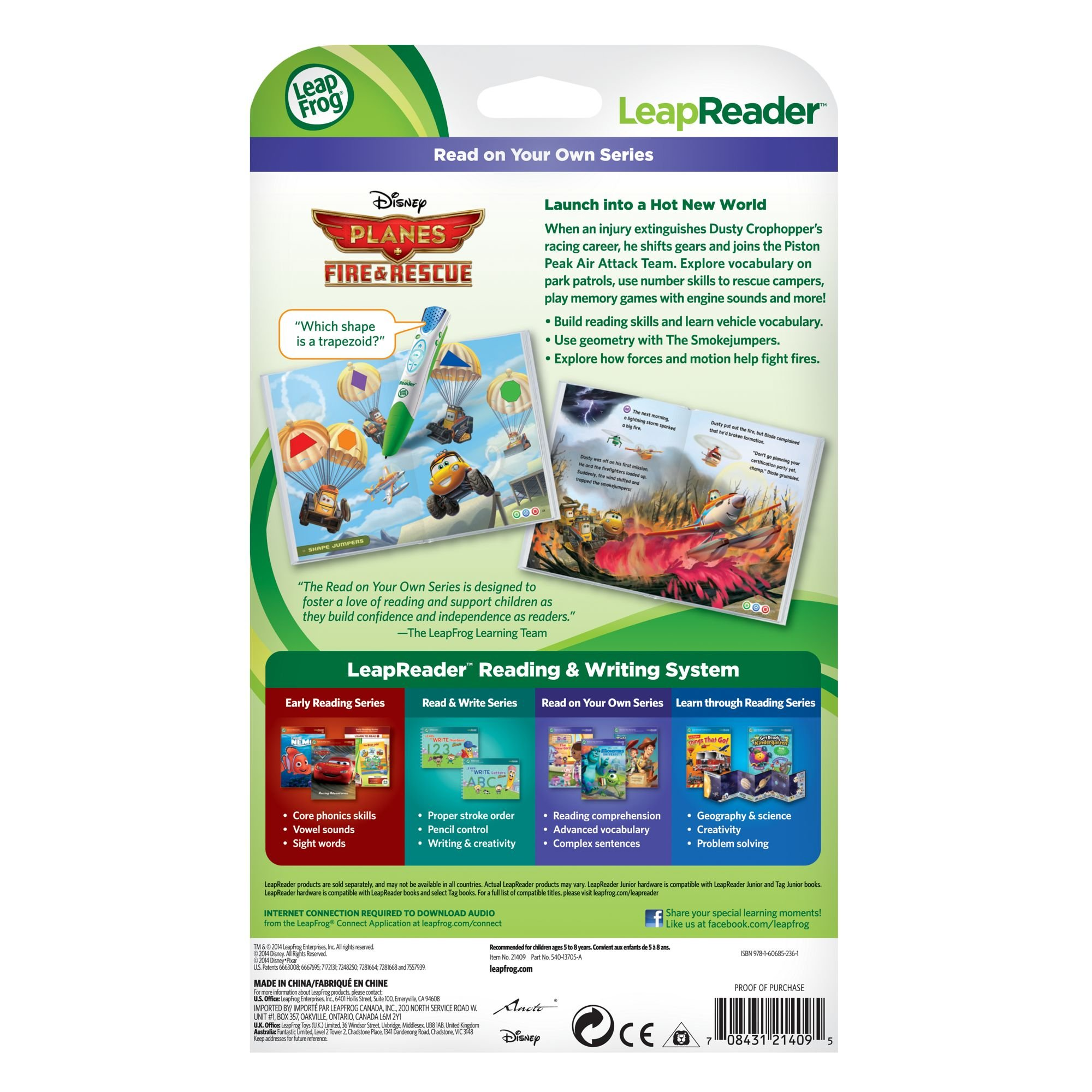 LeapFrog LeapReader Book: Disney Planes Fire and Rescue by LeapFrog (Image #2)