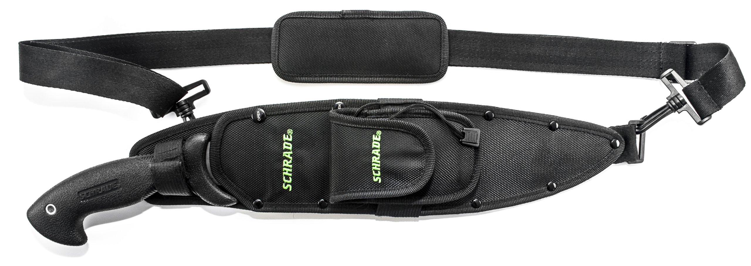 Schrade SCHBOLO Bolo Machete Full Tang Fixed Blade Safe-T-Grip Handle