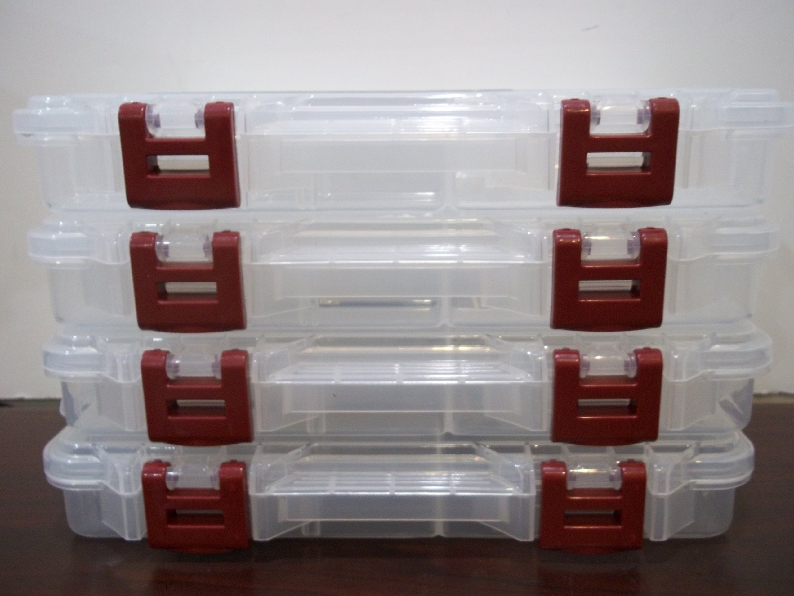 Plano Prolatch Stowaway Storage with Adjustable Dividers 3650 Series (Maroon New Latch) by Plano