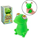 Squishy Eye Popping Frog By Funky Toys | Large Squeeze Toy | Stress Relief Game | Peepers Fidget Toy | Anxiety Reducer Sensory Play | Great Gift For Toddlers Boys & Girls | Suitable For Autism & ADHD
