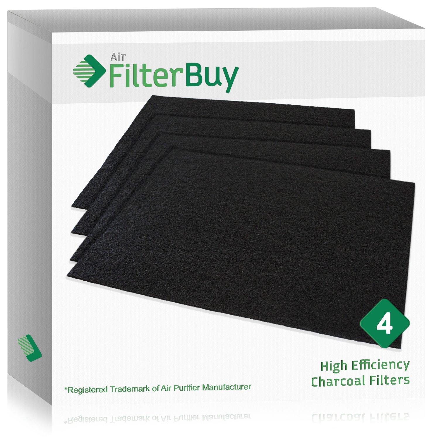 FilterBuy 4 Carbon Filters. 19.5x17 Cut to Fit Charcoal Filters. Designed by to replace Air Purifier Pre Filters.