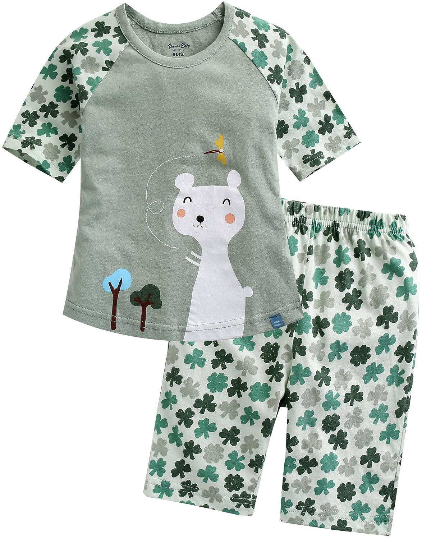 Vaenait baby 68-110 Kinder Jungen 2pcs Kurzarme Bekleidungssets 3/4 Sleeve Schlafanzug Clover Cat SWS_120