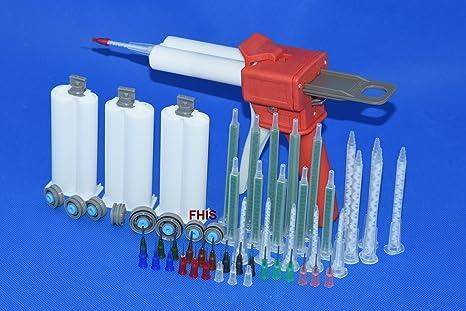 f6599b83a7 Latest style 50ML AB glue cartridge 2: 1 1: 1 Manual Dispense Gun with  Cartridge combinations