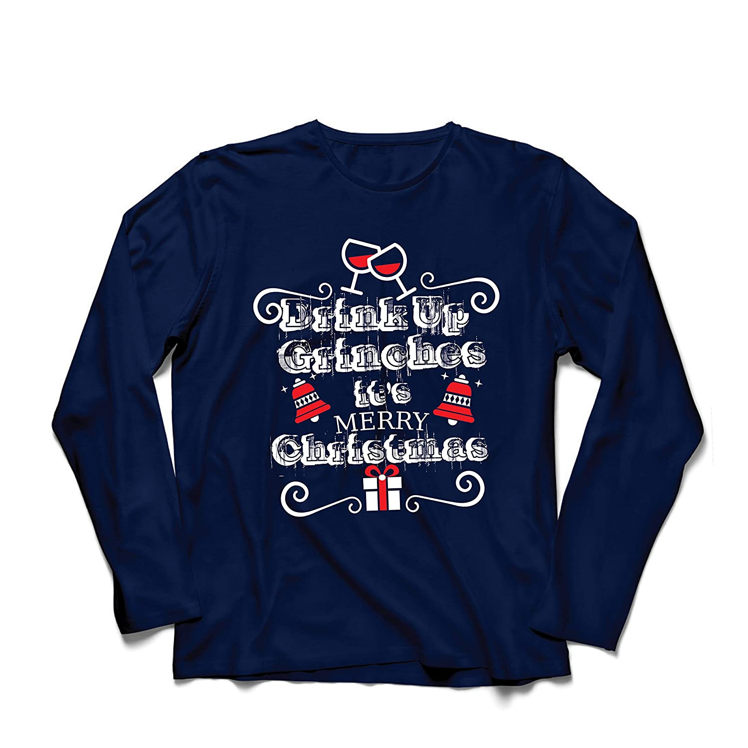 lepni.me Men/'s T-Shirt Drink Up Grinches Its Merry Christmas
