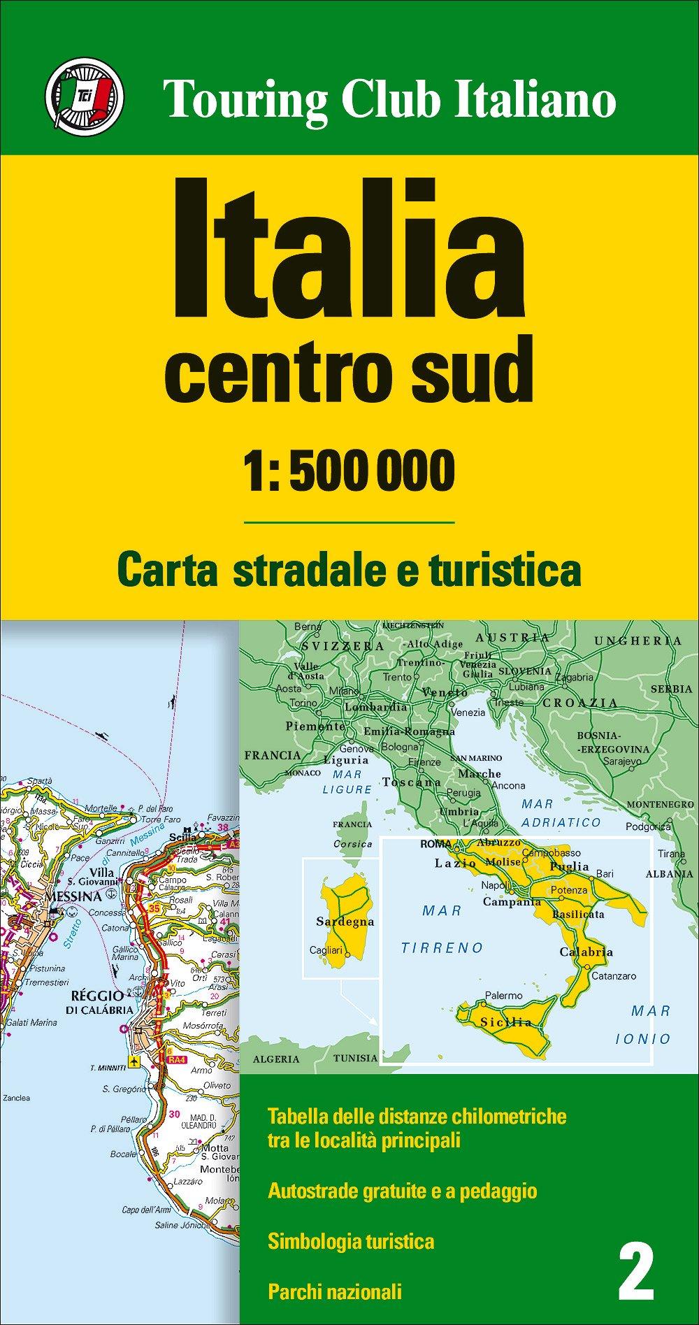 Italia Centro Meridionale Cartina.Amazon It Italia Centro Sud 1 500 000 Carta Stradale E Turistica Lingua Inglese Aa Vv Libri In Altre Lingue