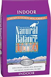Natural Balance Ultra Dry Cat Food for Indoor Cats, Chicken & Salmon Meal Formula