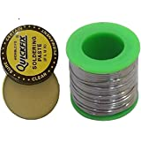 7Q7 Electronic Solder 60/40 Tin Lead Roll For Soldering Solder Wire 50 Grams Reel 50Grams Solder-Wire Spool - DIY Hobby Works Projects + 15gm Flux
