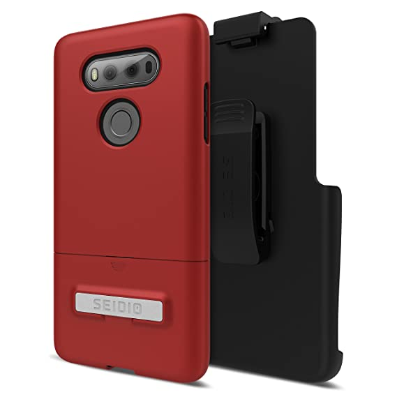 Seidio Surface Combo Case for LG V20 - Dark Red/Black