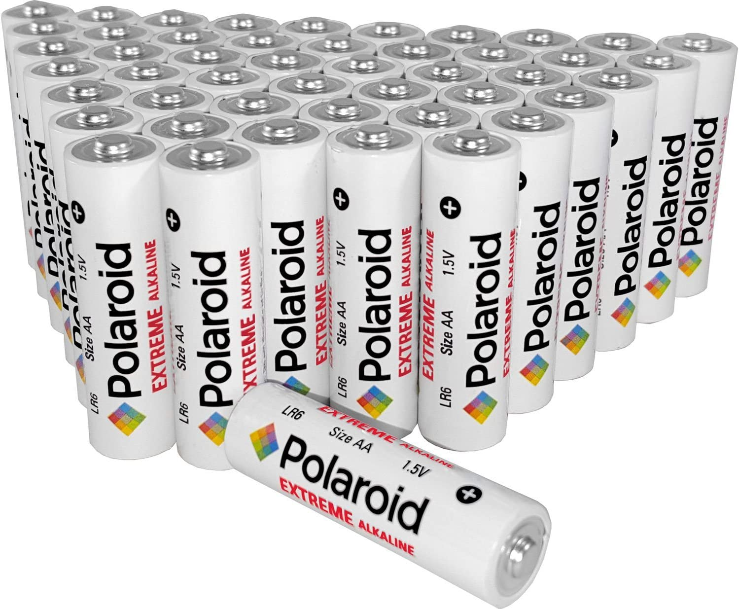 Polaroid Extreme AA Alkaline Batteries Wholesale Bulk Bundle Pack (48-Pack) Non Rechargeable
