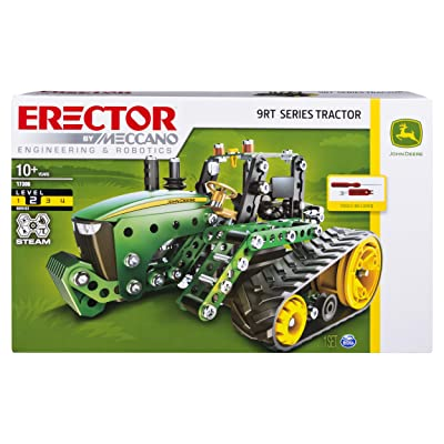 Meccano Erector, John Deere 9RT Series Tractor Building Set, Stem Engineering Education Toy for Ages 10 & Up: Toys & Games