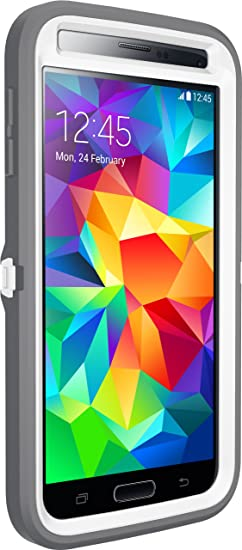 the latest a44b9 81cad Otterbox Defender Series Samsung Galaxy S5 Case - Frustration Free  Packaging Protective Case for Galaxy S5 - (White/Gunmetal Grey Ap Pink)
