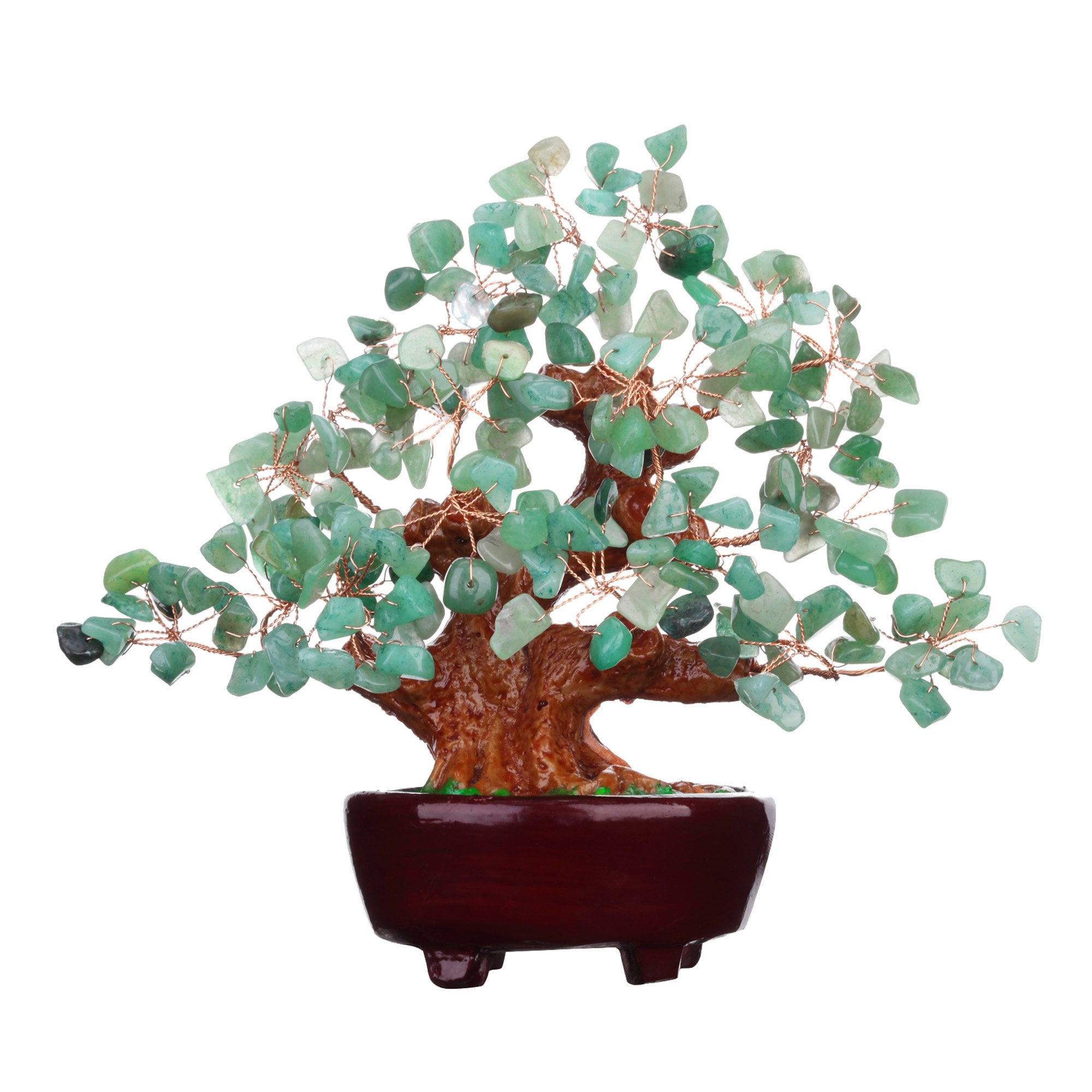 Parma77 Mart 7 Inch Feng Shui Aventurine Quartz Gem Stone Money Tree Natural Green Crystal Art Decoration Office Living Room Good Luck by Parma77