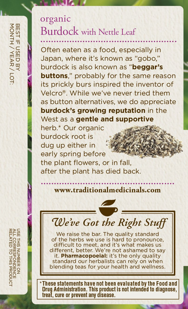 Traditional Medicinals Organic Burdock with Nettle Herbal Leaf Tea, 16 Tea Bags by Traditional Medicinals (Image #3)