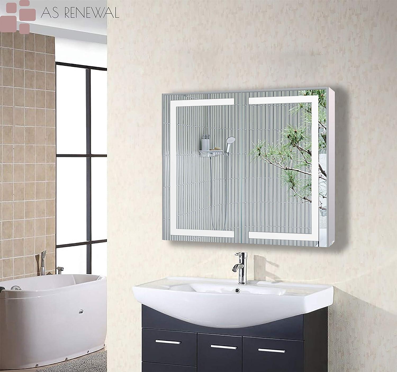 Amazon Com Gd 32 Inch Led Wall Mounted Bathroom Vanity Medicine Cabinet Soft Closing Hinge Kitchen Dining