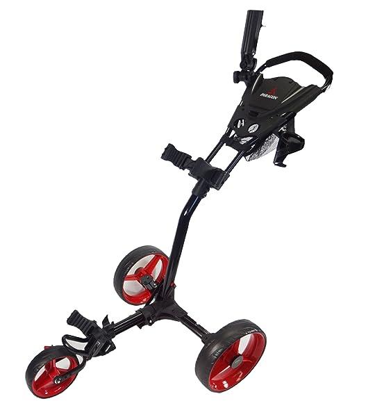 Paragon 3-wheelie Push Pull Folding 3 Wheel Golf Push - Pull Cart